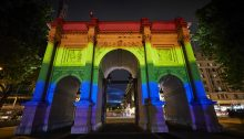 Marble Arch London Pride Illumination Hyde Park 2019