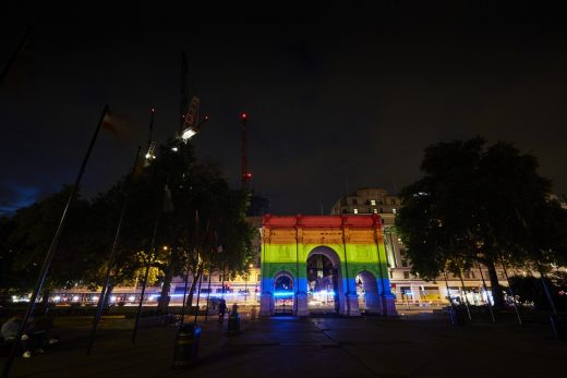 Marble Arch London Pride Hyde Park Illumination 2019