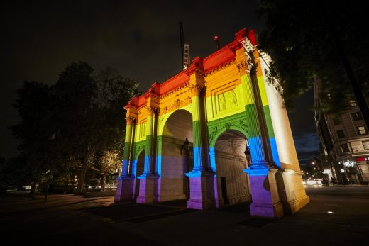 Marble Arch Pride in London Illumination Hyde Park 2019