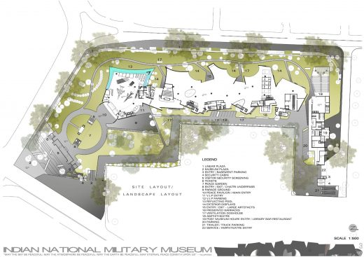 The National Military Museum, New Delhi plan layout