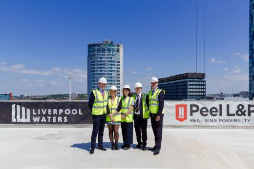 Plaza 1821 Liverpool Waters building Topping Out Ceremony
