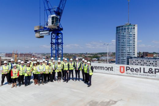 Plaza 1821 building Topping Out Ceremony Liverpool Waters