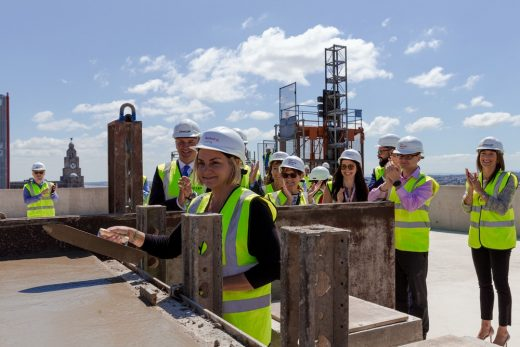 Plaza 1821 building Topping Out Liverpool Waters