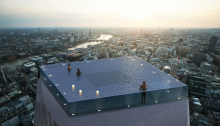 First Rooftop Pool With 360-degree Views on top of a Skyscraper in London
