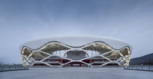 Zaozhuang Stadium building, China, by Shanghai United Design Group Co.,Ltd.