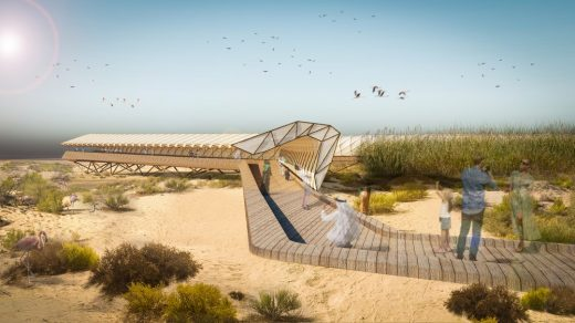 Al Wathba Birdwalk Abu Dhabi, Flamingo Trail Middle East Birdwatching Structures