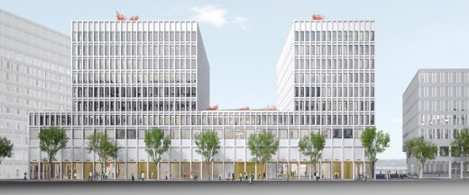 Europaallee 'Site D', Zürich Office and Retail Building Development design by Wiel Arets Architects