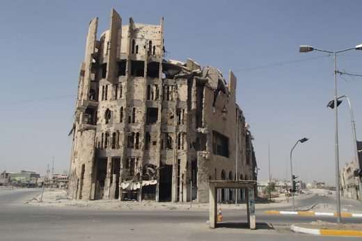 Iraq building destroyed by conflict