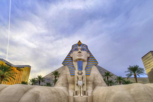 The Luxor Las Vegas Sphinx Nevada USA