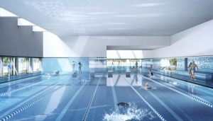 Ost Indoor Swimming Pool in Leipzig Building