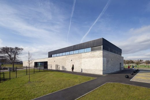 Clydebank Community Sport Hub building design by Marc Kilkenny-Architects