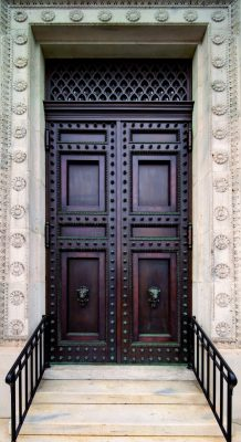 Beaux-Arts Flagg Building at GW, District of Columbia, entry doors