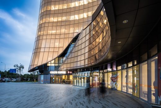 New Building in the business district of Wangjing, China, design by Andrew Bromberg at Aedas