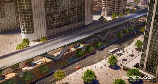 HyperloopTT Sustainable Transportation Infrastructure by MAD Architects