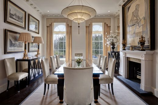 Chester Terrace property dining room