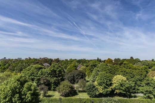 View from Chester Terrace House London Regents Park