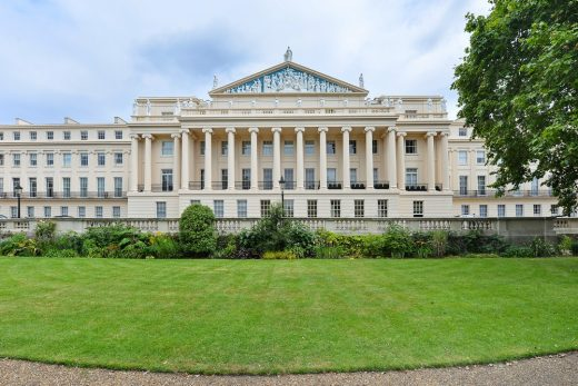 Regents Park Cumberland Terrace properties in London