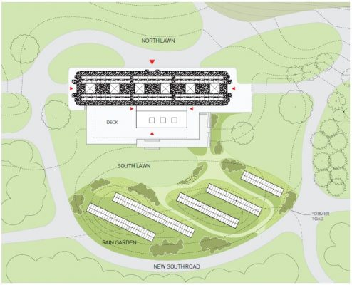 Proposed map of the grounds surrounding the David Rockefeller Creative Arts Center