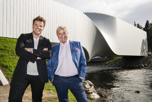 Bjarke Ingels BIG The Twist at Kistefos building opening day