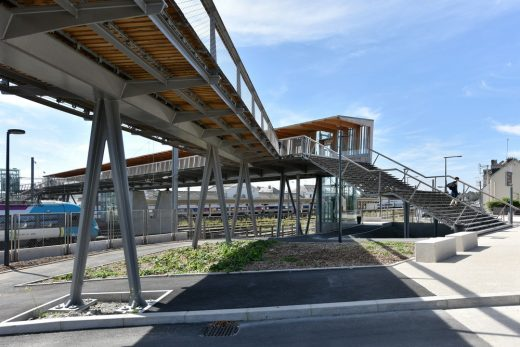 Train Station Footbridge Laval design by French Architects practice