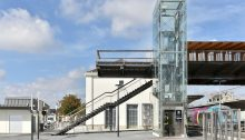 Train Station Footbridge in Laval, Mayenne by Dietmar Feichtinger Architectes