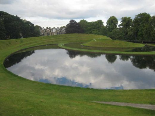 Landform, Edinburgh, Scotland, by Charles Jencks, at SNGMA