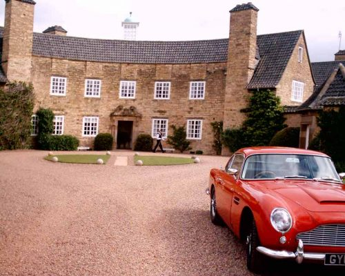 Grey Walls Gullane hotel East Lothian Aston Martin car
