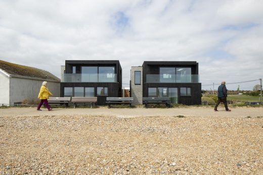 The Line Houses on Camber Sands Beach, East Sussex