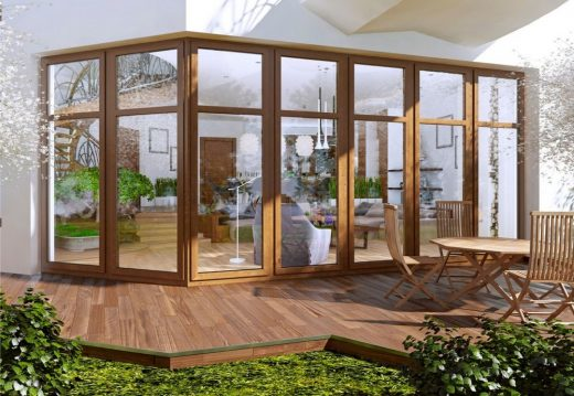 Unusual House conservatory extension