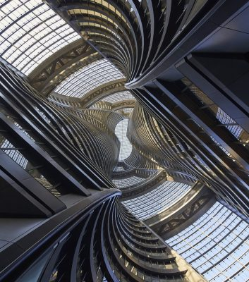 Leeza SOHO Beijing  building atrium China