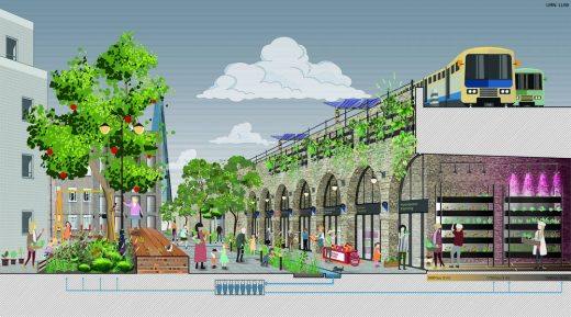 Low Line Design Competition Shortlisted design - Low Line Commons