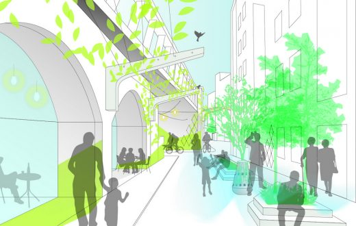 Low Line Design Competition Shortlisted design -  Breathing Spaces