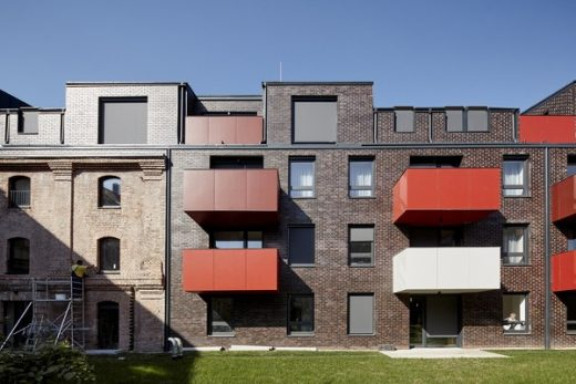 Jazz Loft Apartment Building by T2a Architects in Budapest