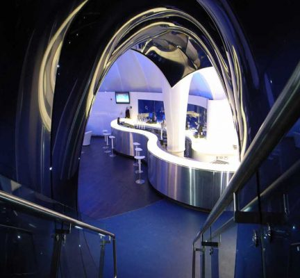 The O2 Lounge entrance stair
