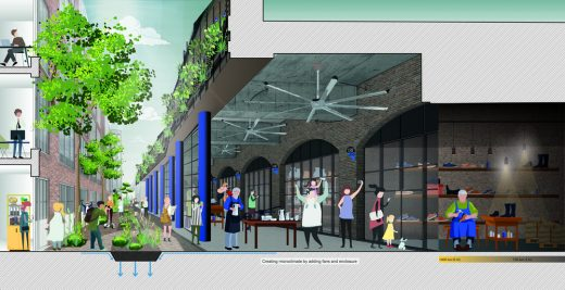 Low Line Commons design by PDP London architects for Holyrood Street London