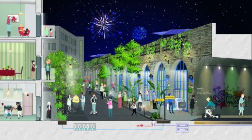 'The Low Line Commons' design by PDP London architects - for Bombay Street
