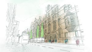 Manchester Town Hall Building Planning Approved North England
