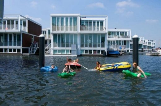 Marlies Rohmer Architects' Floating Houses, IJburg, Netherlands