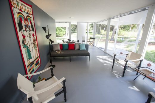 Walker Guest House interior by Paul Rudolph Architect