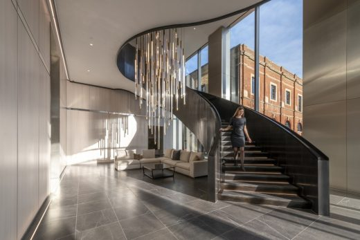 Principal Place Shoreditch spiral stairs by Foster + Partners