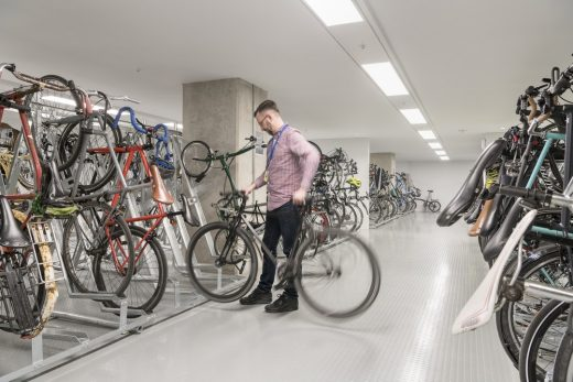 Principal Tower Shoreditch bike store by Foster + Partners Architects
