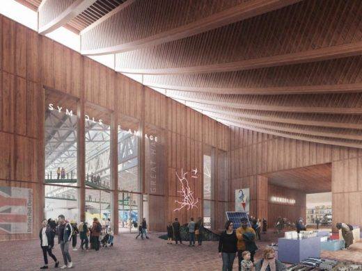 National Railway Museum York Design Competition entry by Carmody Groarke with Arup and Max Fordham