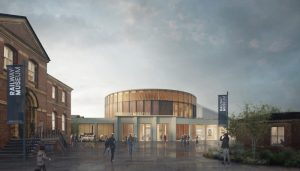 National Railway Museum York Design Competition entry by Feilden Fowles with Max Fordham and Price & Myers