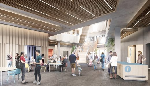 New University of Bristol Library building design interior