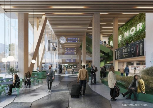 Sustainable Central Station Trondheim Norway