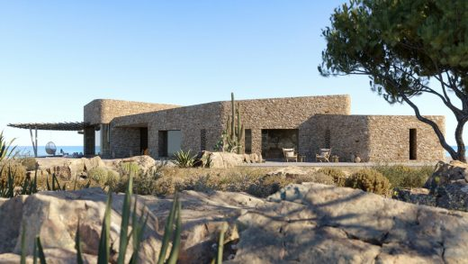 Vacation Houses Complex in Porto Heli design by Greek architect office