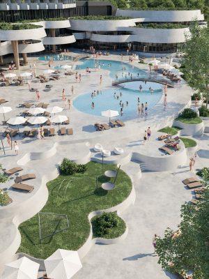 Bosnian Resort Complex design by Enota
