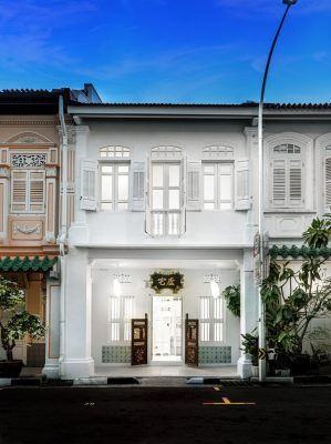 Canvas House Blair Road Singapore Heritage Shophouse facade