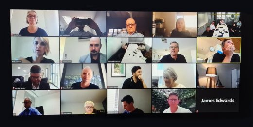 COVID-19 Remote Working Architects in Zoom meeting