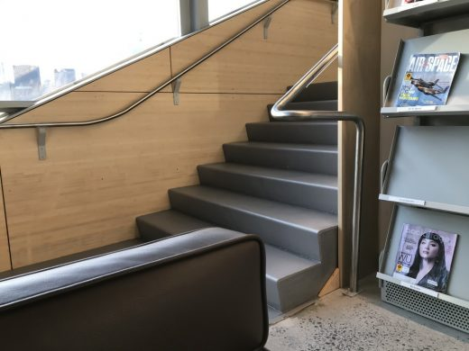 Hunters Point Public Library, Queens, New York, by Steven Holl Architects stair access